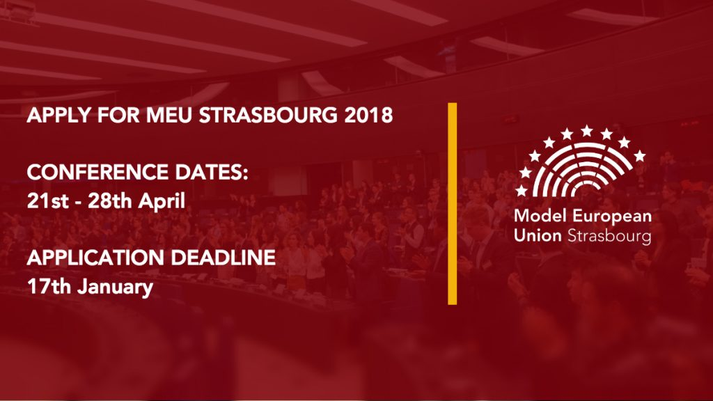 Apply for Model European Union Strasbourg 2018!