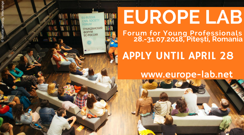 """FORUM FOR YOUNG PROFESSIONALS """"EUROPE LAB""""  2018"""